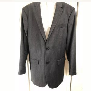 BANANA REPUBLIC 2 BTN Blazer 100% Wool Dark Gray.